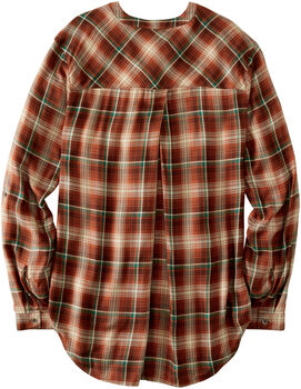 Womens Breezy Plaid Shirt
