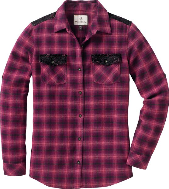 Women's Sundown Crochet Flannel