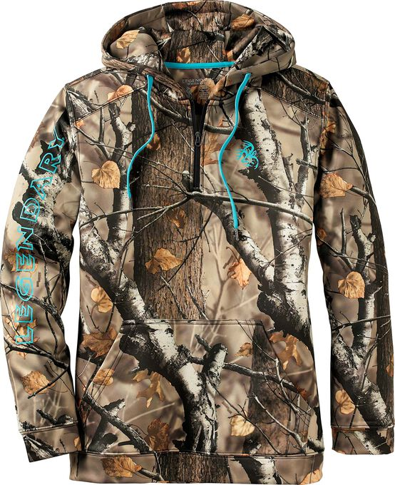 Women's Camo Power  1/4  Zip Hoodie