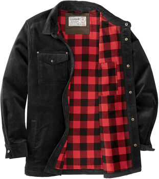 Men's Tough as Buck Flannel Lined Corduroy Shirt Jacket