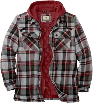 Men's Maplewood Hooded Flannel Shirt Jacket