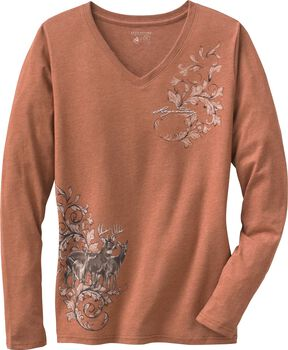 Women's Mystic Legends Long Sleeve V-Neck Shirt