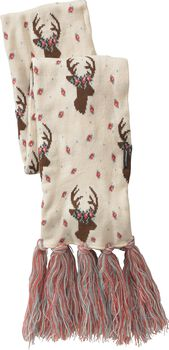 Women's Happy Glamper Floral Deer Scarf