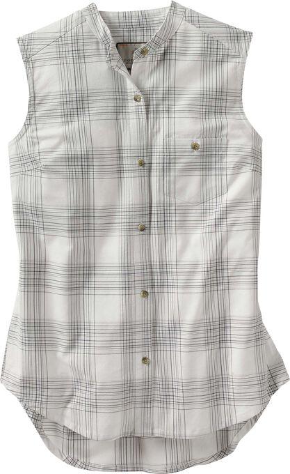 Women's Crosstown Sleeveless Button Up Casual Shirt
