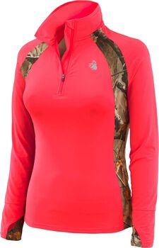 Women's Intensity Big Game Camo Performance 1/4  Zip