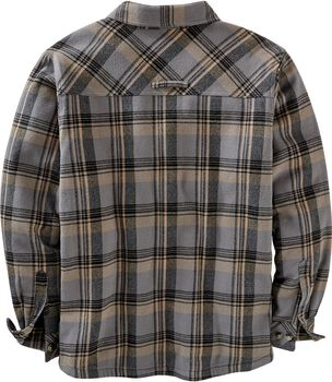 Men's Deer Camp Fleece Lined Flannel Shirt Jacket