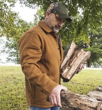 Men's Big Woods Camo Lined Brushed Knit Fleece Shirt Jacket
