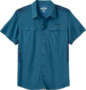 c12bc9bc0a7 Men's Open Water Short Sleeve Button Up. River Blue; Sage