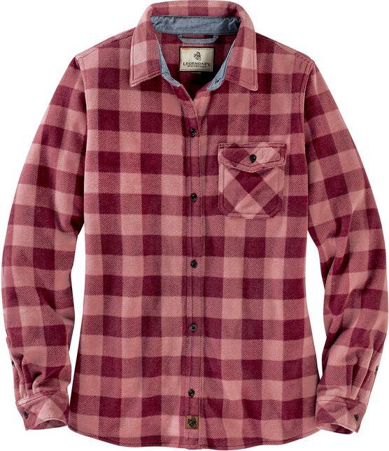 Women's Trail Guide Fleece Plaid Button Up Shirt