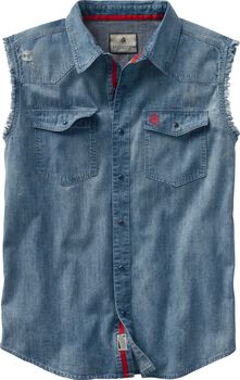 Men's Big Rig Denim Blowout Cutoff Shirt