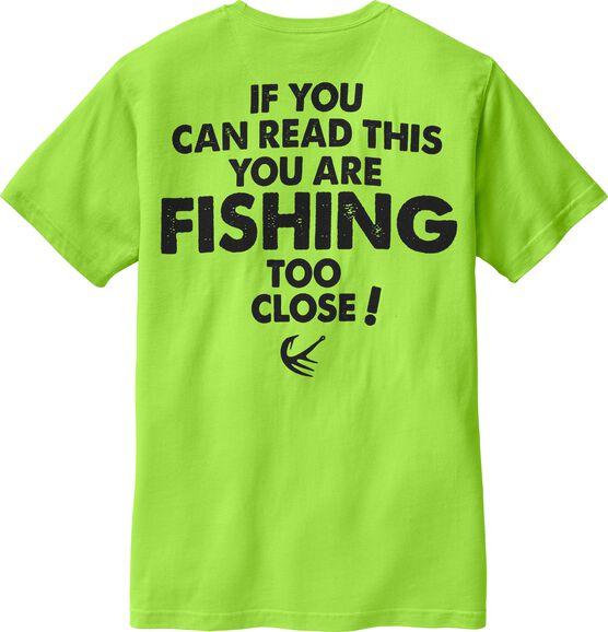 Men's Fishing Too Close Short Sleeve Tee