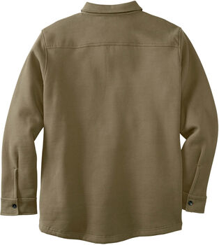 Men's Big Woods Camo Lined Brushed Knit Fleece Shirt Jacket