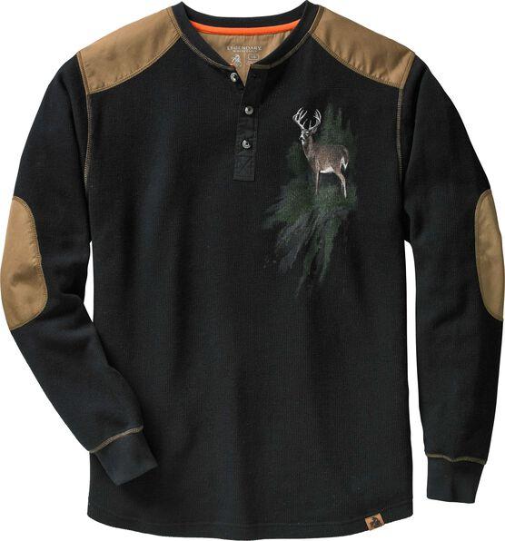 Men's Long Sleeve Cotton Thermal Commando Henley