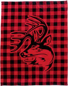 Legendary Buck Buffalo Plaid Blanket