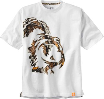 Men's Wild Turkey White Short Sleeve Camo T-Shirt