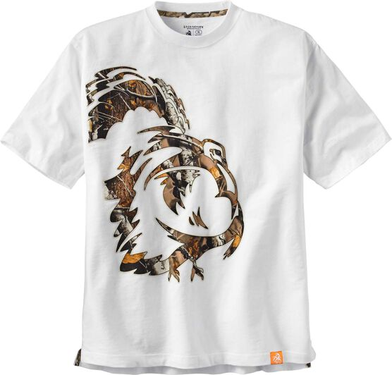 Men's Wild Turkey White Short Sleeve Camo T-Shirt
