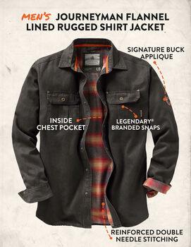 Men's Journeyman Flannel Lined Rugged Shirt Jacket