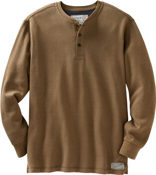 Men's Tough as Buck Double Layer Thermal Henley Shirt