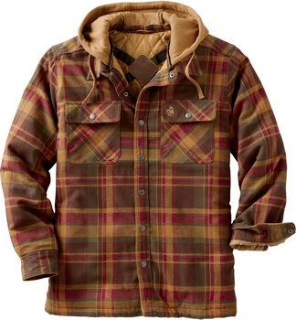 Men's Concealed Carry Western Maplewood Hooded Shirt Jacket