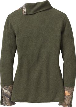 Women's Hardwoods Camo Button-Neck Thermal
