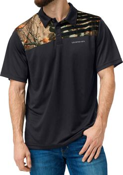 Men's Fast Lap Big Game Camo Polo
