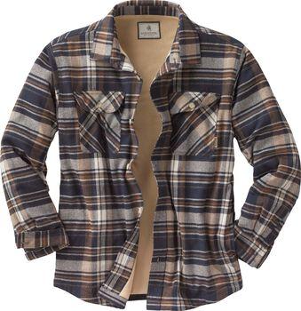 Men's Deer Camp Fleece Lined Flannel Shirt Jac