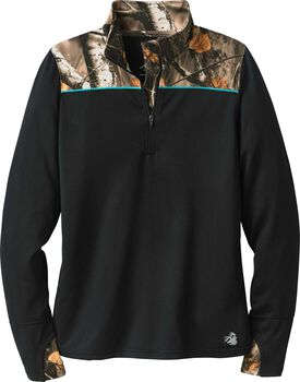 Women's Full Range Big Game Camo Performance 1/4 Zip