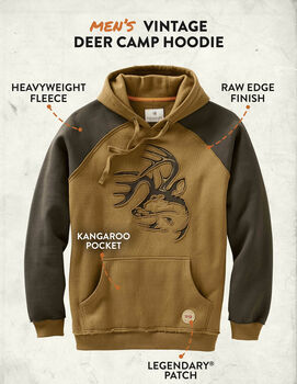 Men's Vintage Deer Camp Heavyweight Hoodie