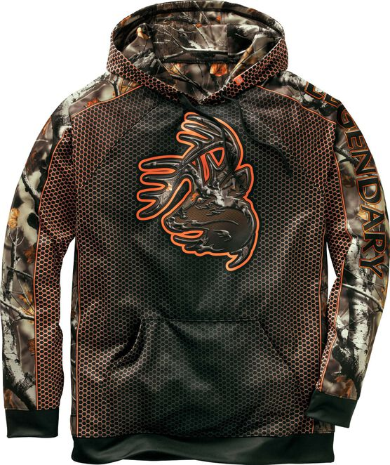 Men's Chain Link Big Game Camo Buck Hoodie