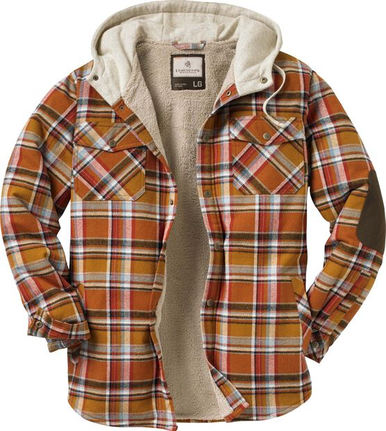 Men's Camp Night Berber Lined Hooded Flannel