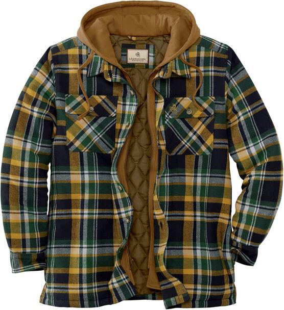 Men's Maplewood Hooded Flannel Shirt Jacket