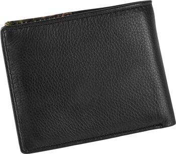 Men's Mossy Oak Black Leather Billfold Wallet