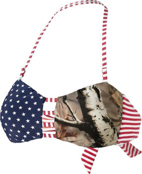 Women's True To Roots Bandeau Bikini Camo Top