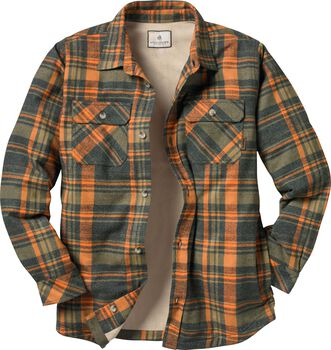 Men's Deer Camp Fleece Lined Flannel Shirt Jac