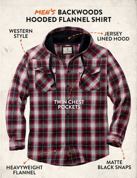 Men's Backwoods Hooded Flannel Shirt
