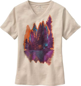 Women's Painted Forest V-Neck T-Shirt