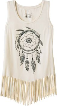 Women's Dream Catcher Fringe Tank Top