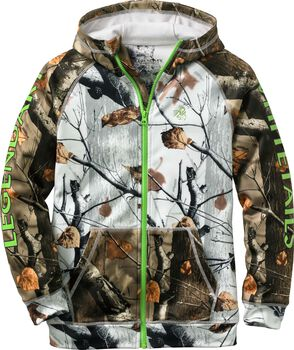 Youth Team Legendary Big Game Camo Full Zip Hoodie