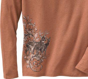 Women's Mystic Legends Long Sleeve V-Neck Shirt