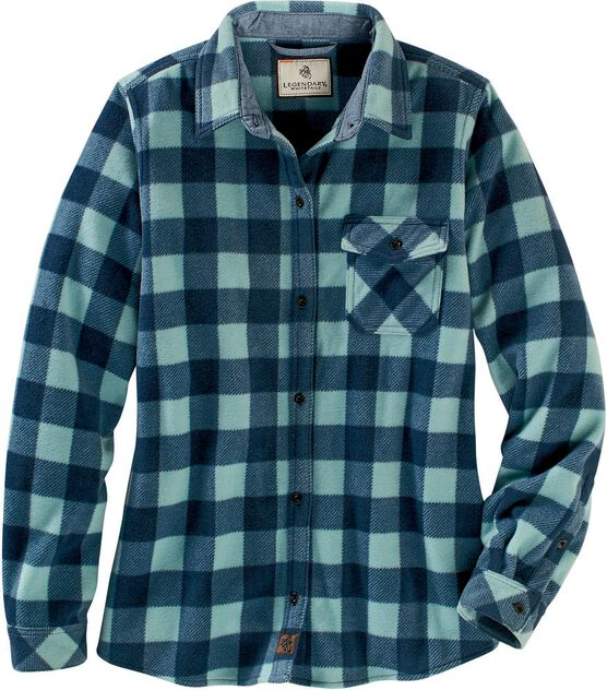 Women's Trail Guide Fleece Plaid Button Up Shirt