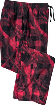 Men's Camo Plaid Fleece Pants