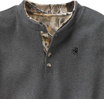 Men's Summit Double Collar Big Game Camo Henley