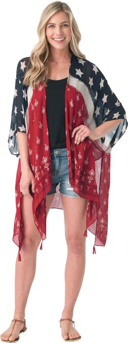 Americana Cape Cover up