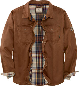 Men's Journeyman Flannel Lined Rugged Shirt Jacket