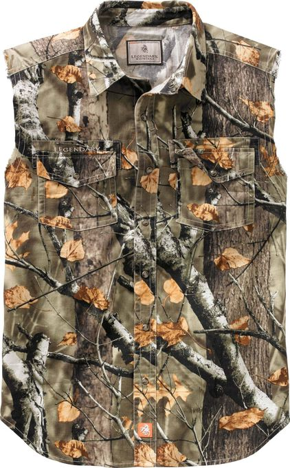 Men's Country Boy Big Game Camo Cut Off Shirt