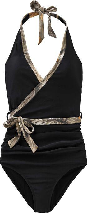 Women's Black Powder One Piece Swimsuit