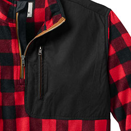 Secure zip chest pocket