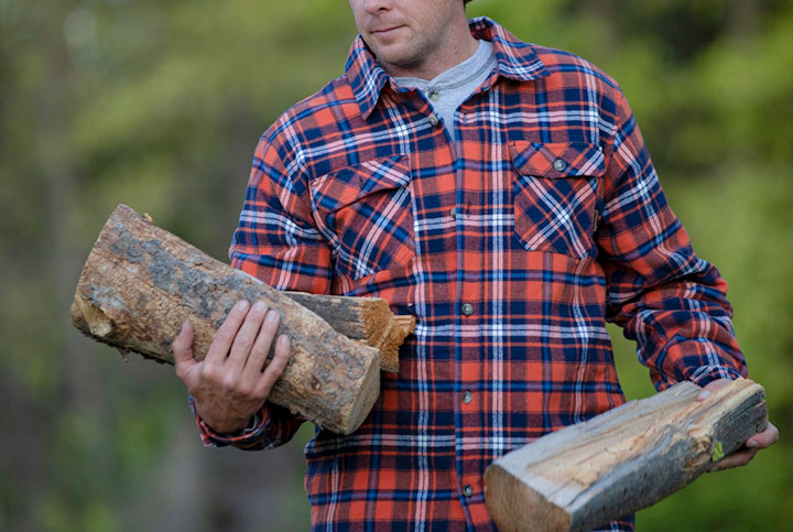 Classic plaid heavyweight flannel
