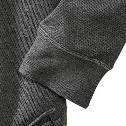 Ribbed collar and cuffs