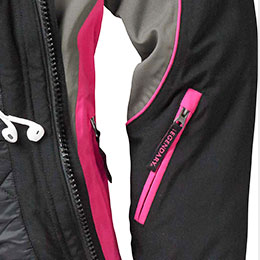 Convenient left sleeve pocket
